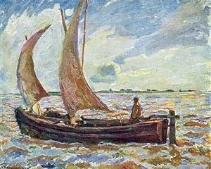 Fisherman's landscape - Pyotr Konchalovsky