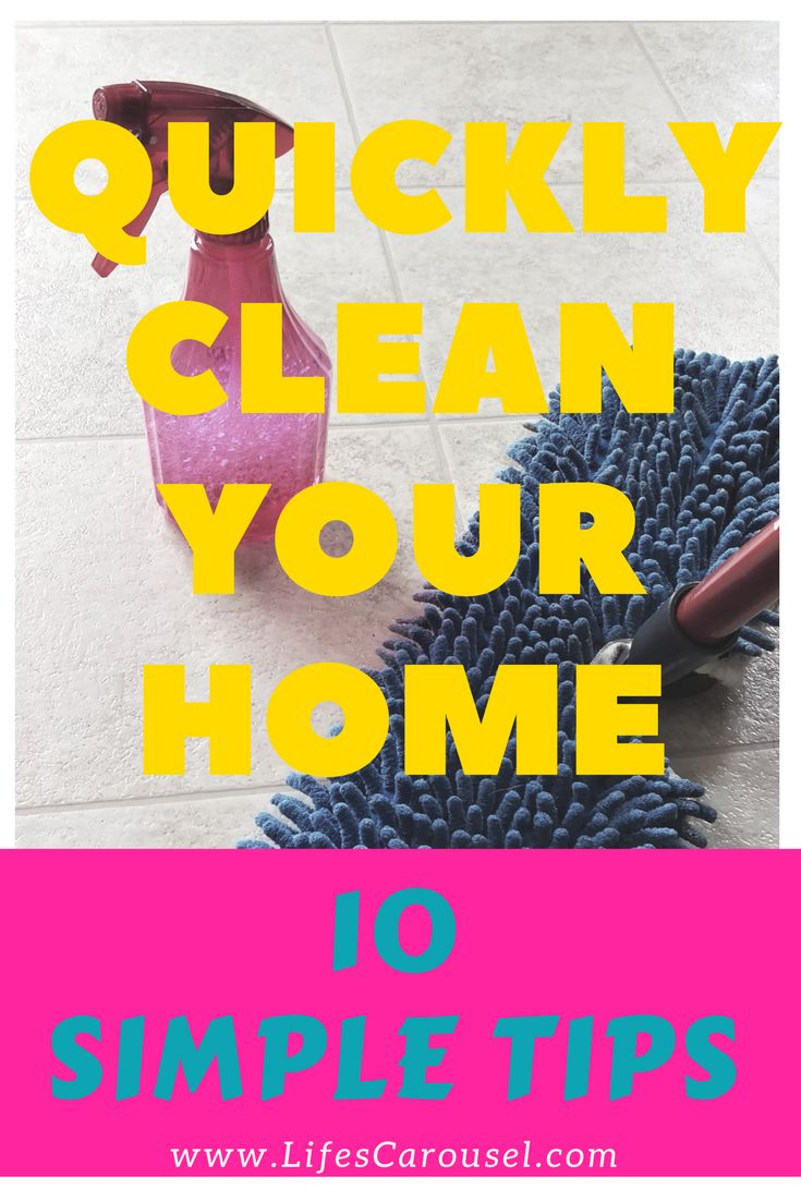 Cleaning tips for people that have no time to clean! I love these tips to keep my house clean without spending hours cleaning! NUMBER 7 IS SUCH A GREAT IDEA!