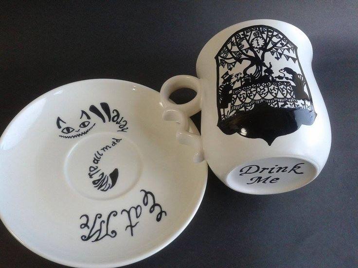 Wonderland mug - tea time - eat me - we're all mad here