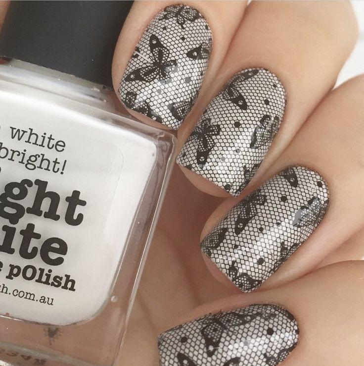 piCture pOlish 'Bright White' nails by Olivka163 www.picturepolish.com.au