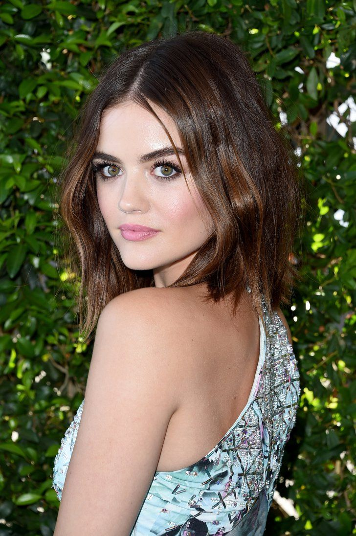 Lucy Hale's Soft Shag at the Teen Choice Awards Is Absolutely Dreamy | Shop her lip color here: mark. All Butter Now Lip Treat http://avon4.me/1L11cw5