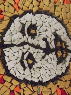 Çocuğumla Eğlenirken: Kartondan Mozaik Çalışması