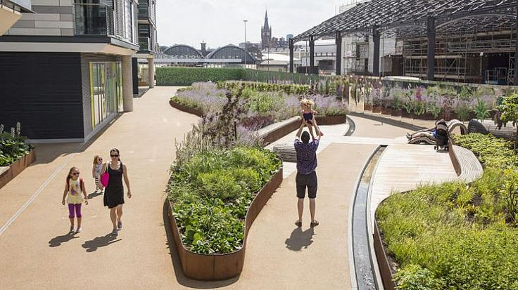 This beautifully landscaped pocket park is influenced by the railway – past and…