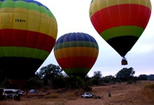 Sun Catchers Hot-Air Ballooning - Hoedspruit. Catch the first rays of the African sun as it rises over the Kruger National Park and paints pink, the Klein Drakensberg Mountains in the west. Below you the green African bushveld stretches into the as far as the eye can see ... Operating out of Otter's Den, a secluded bush camp hidden in the green riverine forest of the Blyde River. The hot air balloon flights take place daily throughout the year (weather permitting of course).
