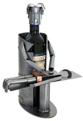 Chiropractor Wine Bottle Holder H&K Steel Sculpture