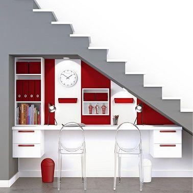 Les 25 meilleures ides de la catgorie Bureau sous escalier sur