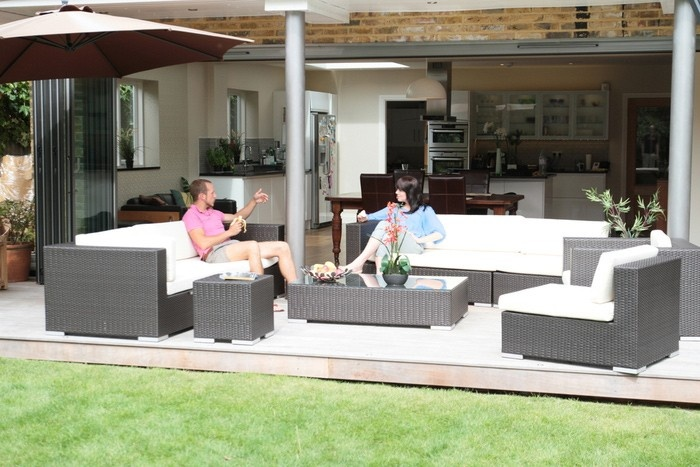 Luxury Rattan Modular Garden Sofa Set Milan Luxury Patio