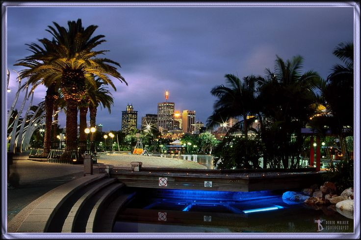 South Bank Lagoon and Brisbane at twilight. Photo by Derek Walker Photography Post brought to you by My Town Magazines Sponsor Inner Edge Fitness