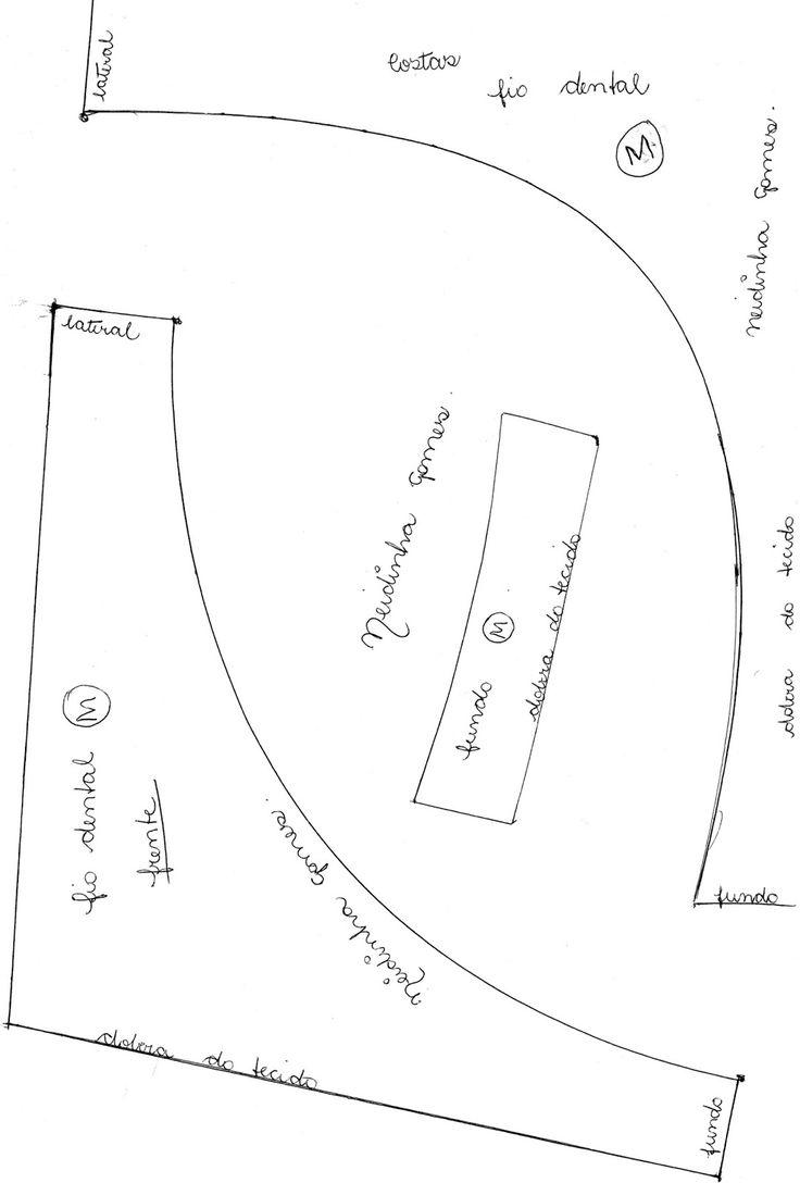 Neidinha Gomes Costuras em geral : Calcinha Fio Dental M (Molde em PDF pra imprimir em folha A4)