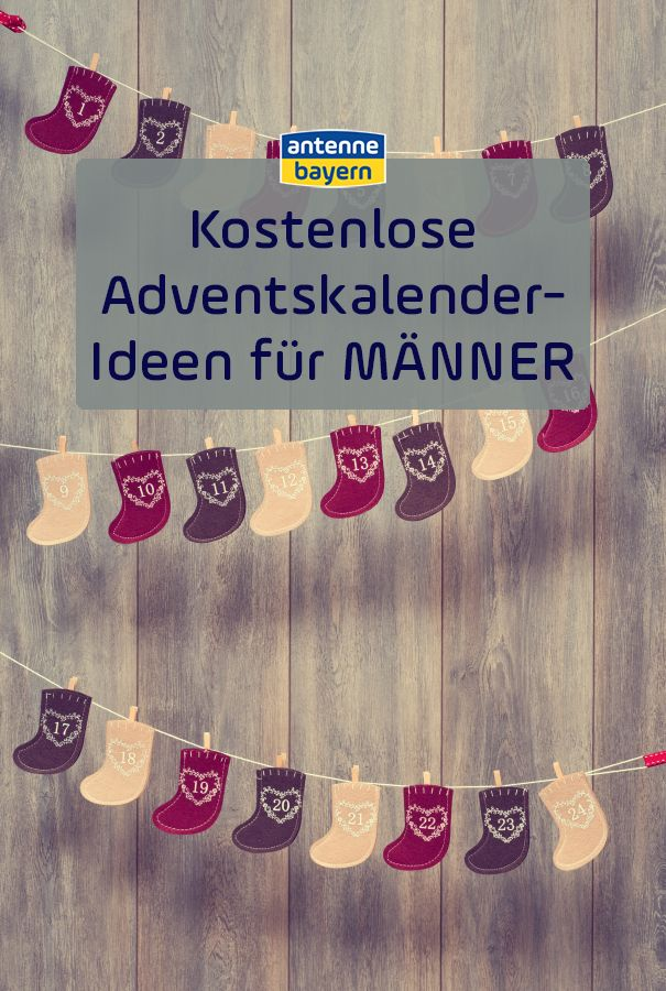 Kostenlose Adventskalender Fur Manner Advent Diy Deko Und