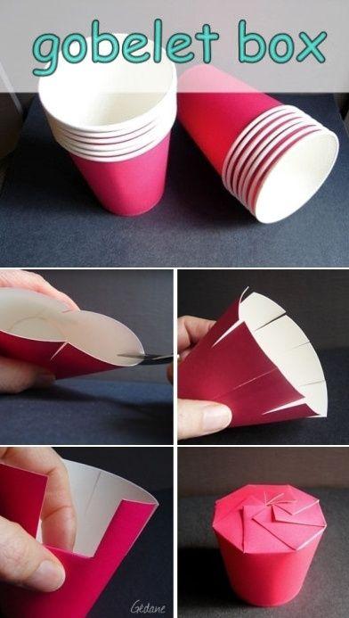 DIY - Créer une boîte avec un simple gobelet