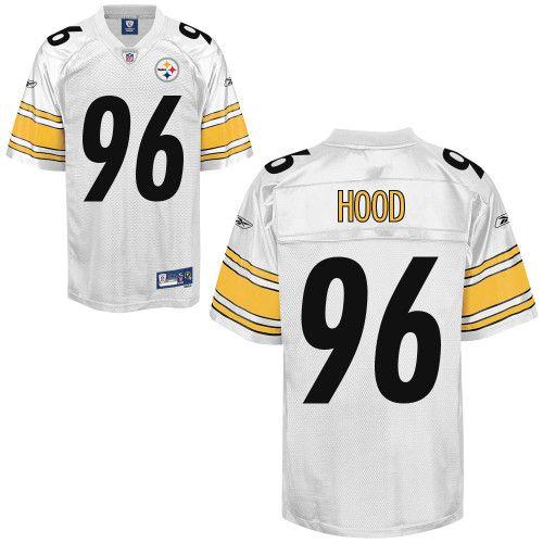 Reebok Pittsburgh Steelers Ziggy Hood 96 White Authentic Jerseys Sale