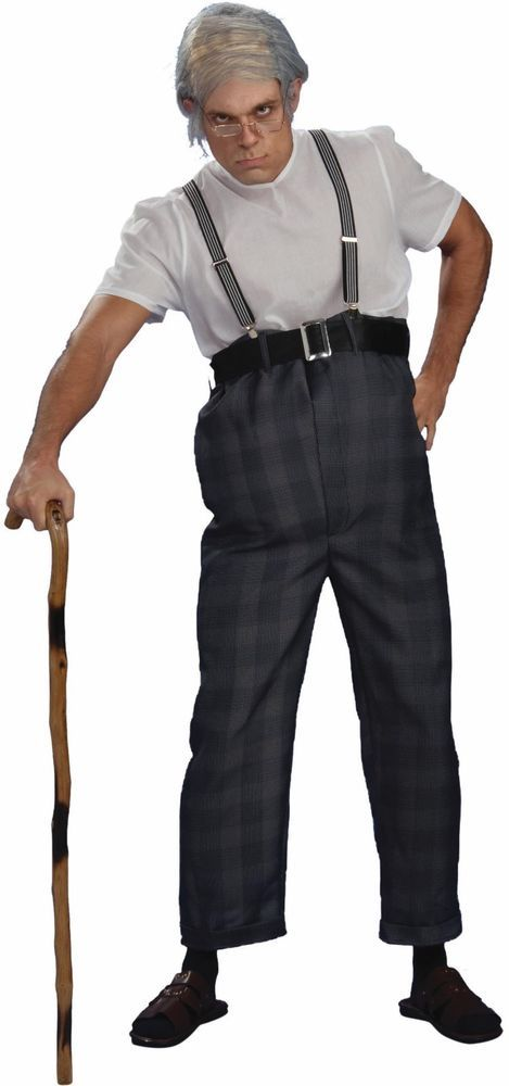 BRAND NEW Old Man Bad Grandpa ADULT UNCLE BERT COSTUME Size Standard #FORUM #CompleteCostume