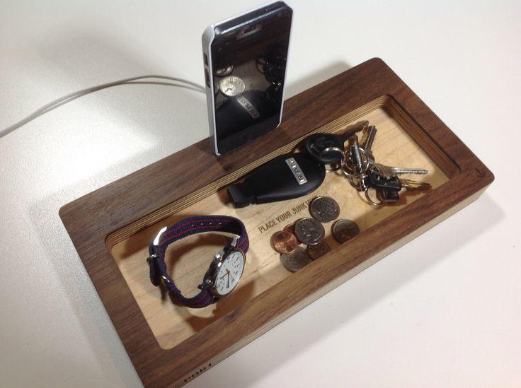 iPhone 6 Docking Station and Catch-All Organizer- ThePort by Wudzeedotcom on Etsy https://www.etsy.com/listing/203352372/iphone-6-docking-station-and-catch-all