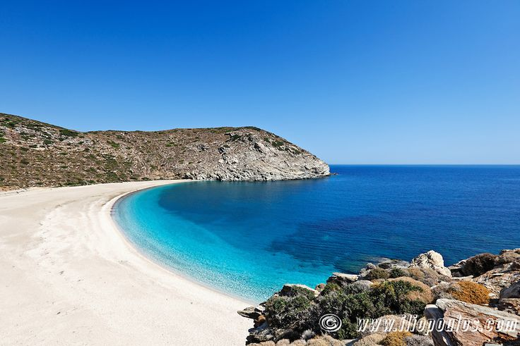 Zorkos beach. One of the most beautiful beaches in Andros