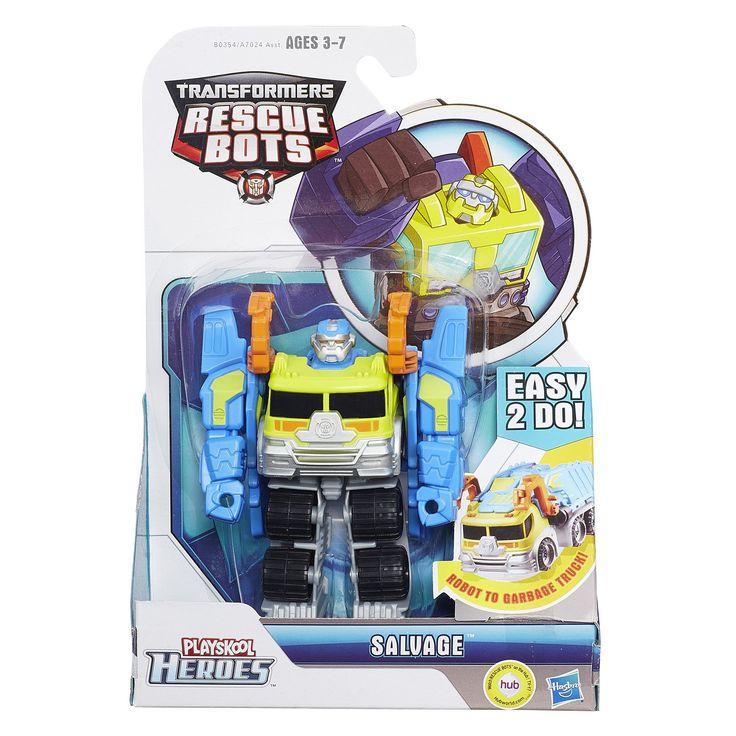 Amazon.com: Transformers Playskool Heroes Rescue Bots Salvage Figure: Toys & Games