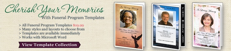 Elegant Memorials sells templates you can download to create funeral invitations, funeral programs and more. Follow them on Facebook: https://www.facebook.com/pages/Elegant-Memorials/159052394110595?ref=hl