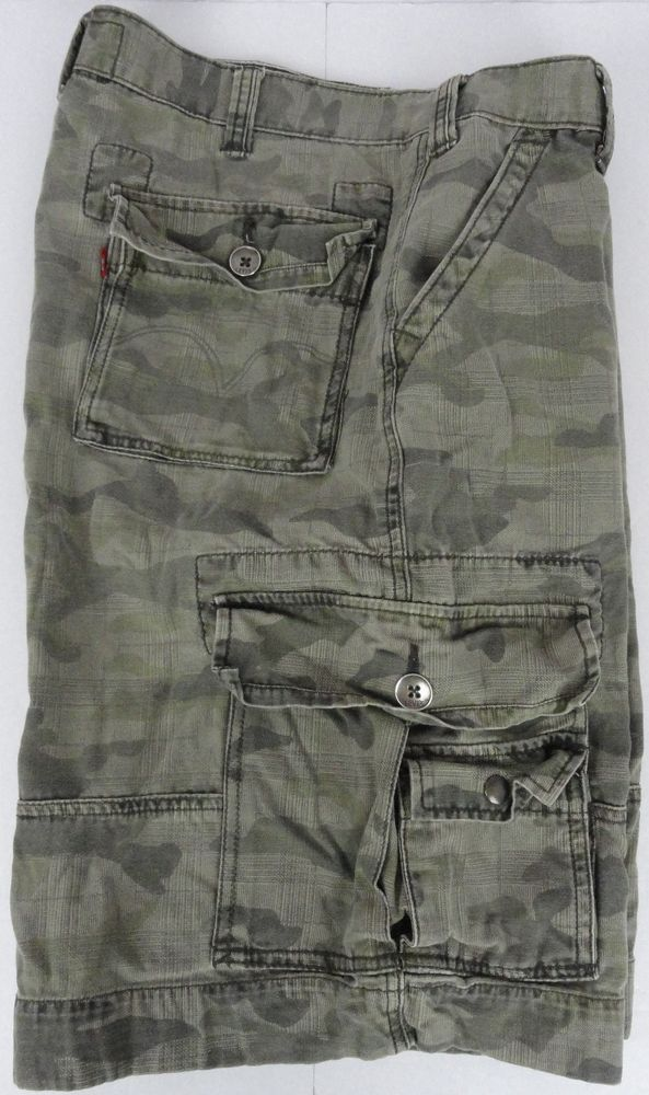 5db039be LEVI'S Squad Cargo Shorts Camouflage Green Men's 36