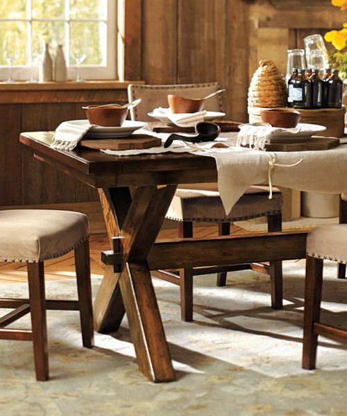 rustic dining room table with modern chairs centerpieces bench benches farmhouse