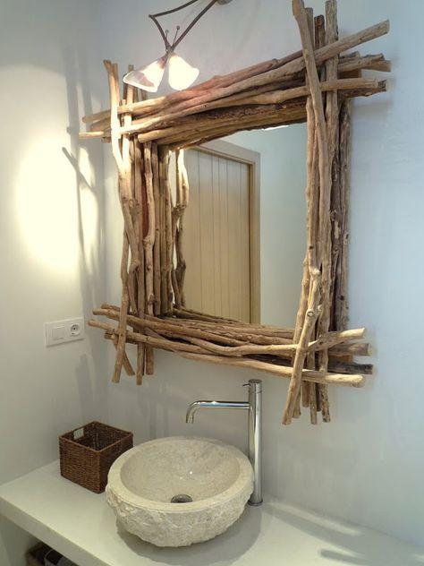 Resultado de imagen de espejo rustico becara