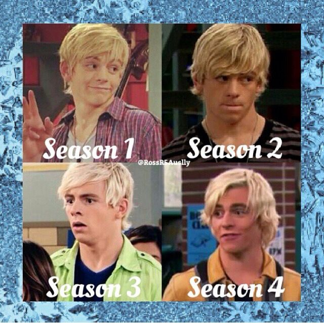 The differences his hair always changes a bit though in season 4 its kind of meg season 3 and 2 are the best XD