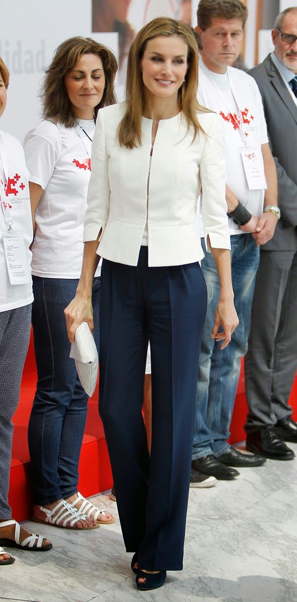 MYROYALSHOLLYWOOD FASHİON:  Queen Letizia attended the ceremony for the 150th anniversary of the Spanish Red Cross, July 4, 2014