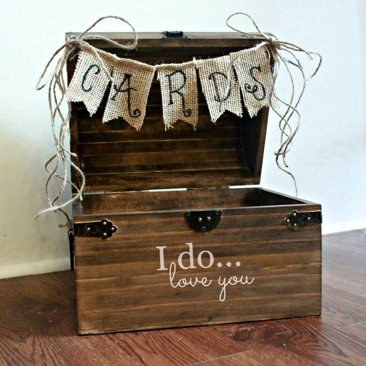 Large Shabby Chic Rustic Wooden Card Box Wedding Card by BoaAndBoo, $50.00
