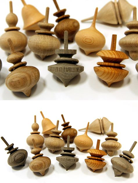 hand carved wooden tops by tortoise general store