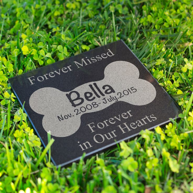 Personalized Memorial Pet Headstone Customized - Forever Missed Forever  - 6 x 6 Marble Cat or Dog Memorial Stone Birthday, Rest day, Name by sugaryeti on Etsy https://www.etsy.com/listing/400132783/personalized-memorial-pet-headstone