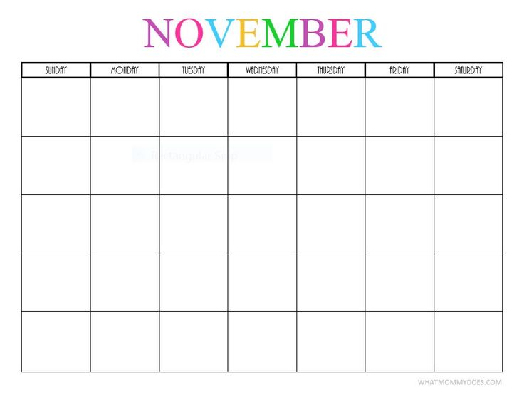 Free Printable Blank Monthly Calendars - 2018, 2019, 2020, 2021 - december monthly calender