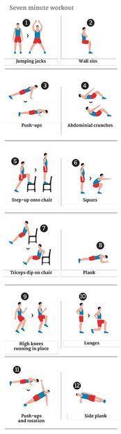 DOCUMENT : EXERCICES EN 07 MINUTES......Un entraînement par intervalles à haute intensité en sept minutes d'exercices......