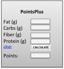 Here is a free online Points Plus Calculator for food.                                                                                                                                                                                 More