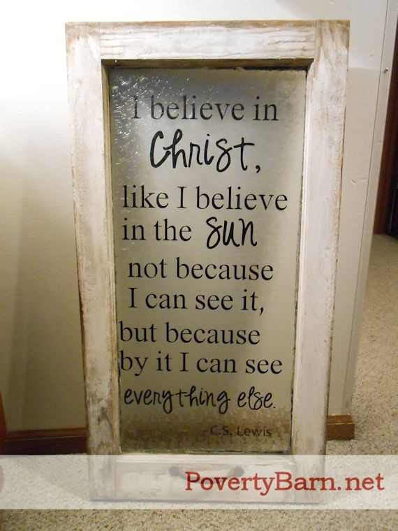 $45 C.S. Lewis window from The Poverty Barn.