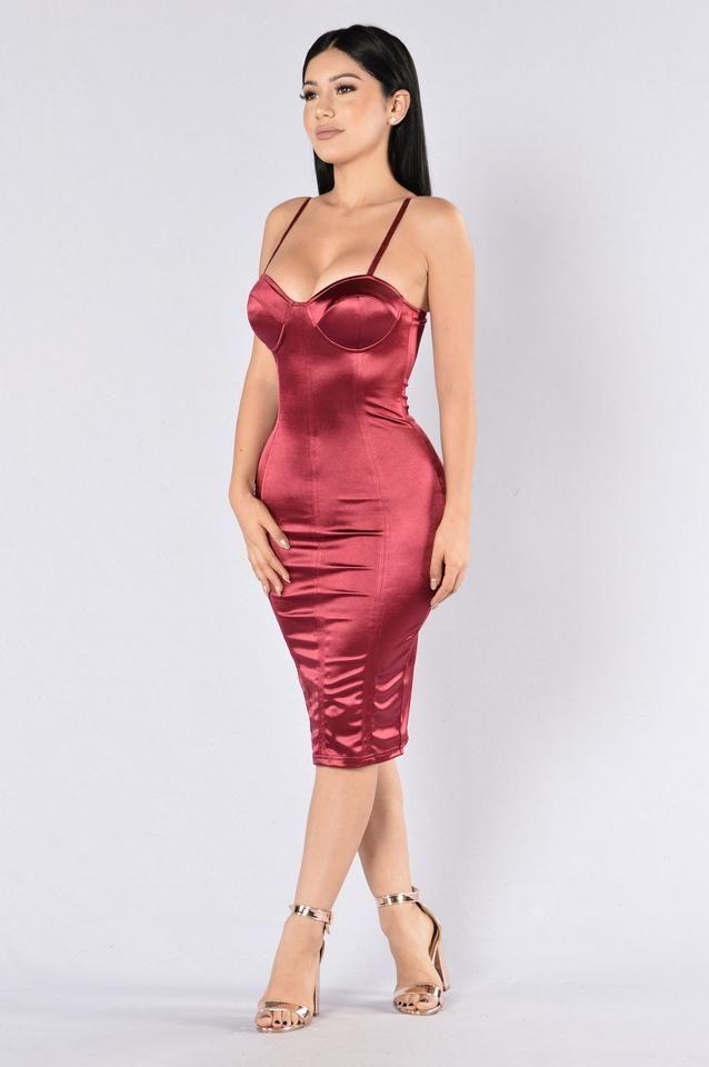 Stupid In Love Dress - Burgundy