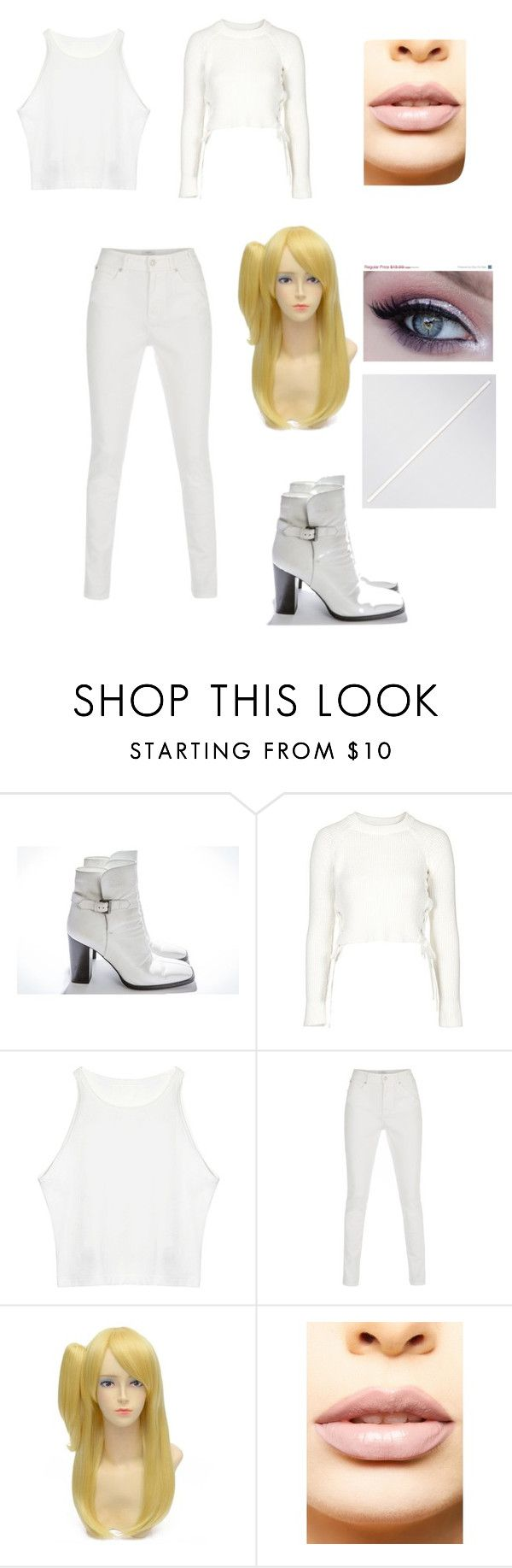 """White canary costume"" by emily-tvd-and-pll-fan-forever ❤ liked on Polyvore featuring Chanel, Topshop, Paul Smith and LASplash"