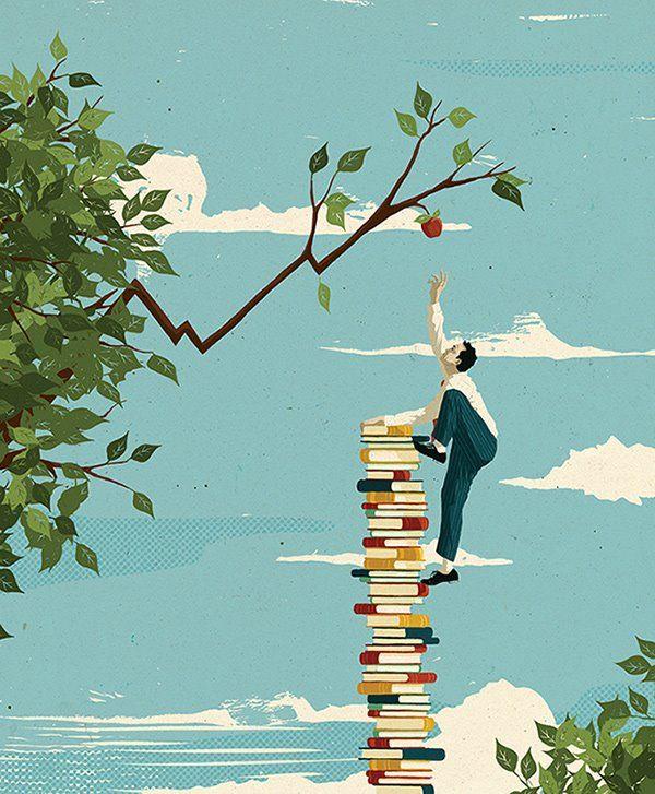bibliolectors:  Muchos libros para acceder al conocimiento (ilustración de Mark Smith)