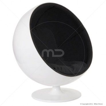 Ball Chair - Black - Buy Egg Ball Chair and Black Ball Chair on sale now at Milan Direct