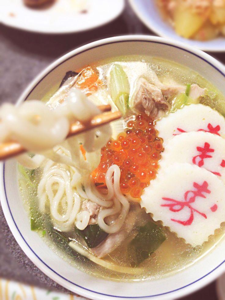 tobutori's dish photo 年明けうどん   http://snapdish.co #SnapDish #うどん #お正月 #和食