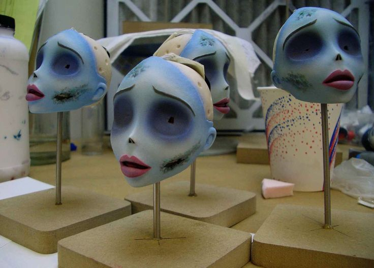 Tim Burton - Corpse Bride - painting in progress