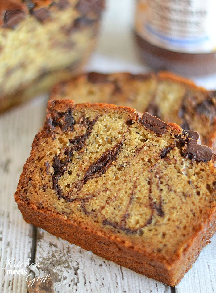 This dark chocolate peanut butter banana bread is the ultimate in ...
