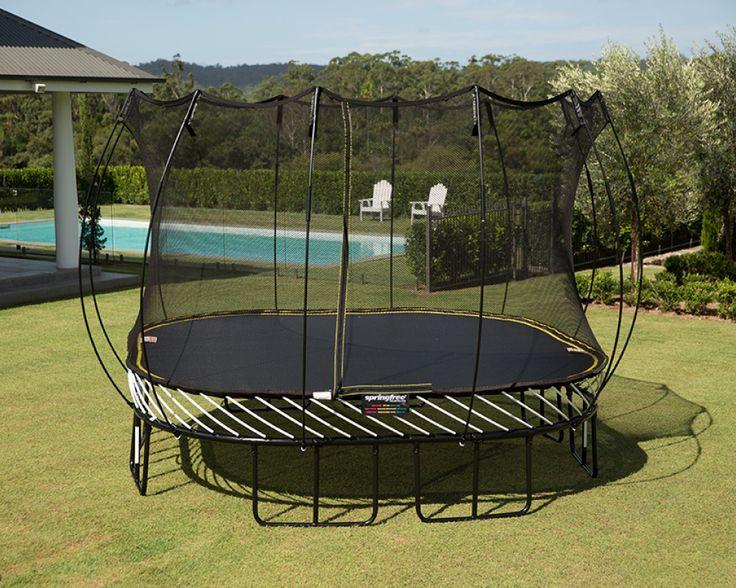 Springfree Large Square S113 in 2020 | Backyard trampoline ...