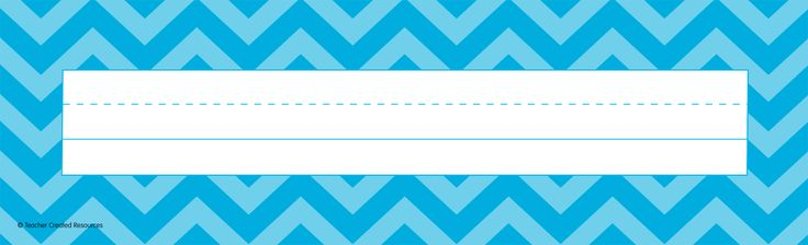 """Aqua Chevron Name Plates (flat) - Use them to help teachers and substitute teachers learn students' names. Use them to label learning centers, storage areas, and portfolio collections. Laminate them for use as vocabulary flash cards or word bank labels. Extra long! 3-1/2"""" x 11-1/2"""" 36 per pack."""