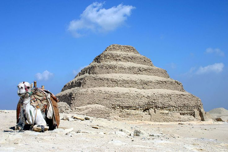 Saqqara pyramid of Djoser in Egypt