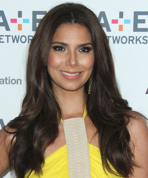 Roselyn Sanchez Hairstyle - Long Straight Formal - Dark Brunette .............. www.thehairstyler.com