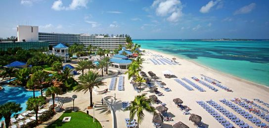 Melia Nassau Beach Resort, located on the famous Cable beach, has 3 freshwater pools with waterfalls, over-sized whirlpools and a swim up bar!