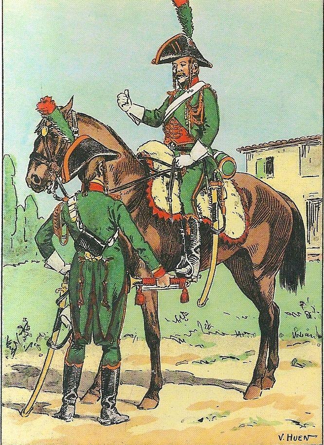 French; Guides de Bonaparte, Trumpeter & Guide, 1797