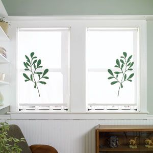 DIY: Stenciled Shade for Bathroom Window