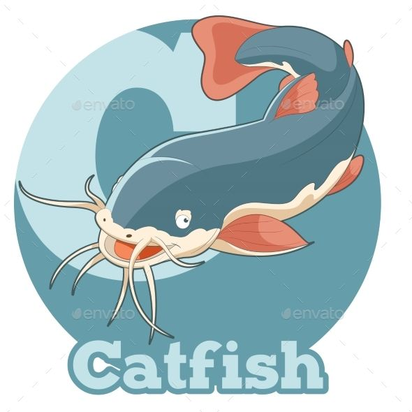 Vector image of the ABC Cartoon Catfish