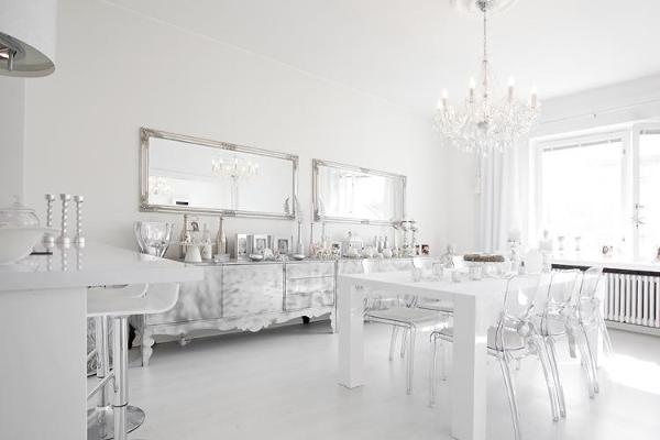 White + Silver