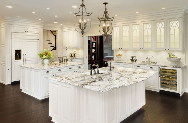 Top 12 Gorgeous Kitchen Island Ideas: So Beautiful! Granite Counter Is Delicatus. This Granite